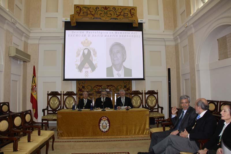 Solemne Sesión Necrológica en Memoria del Excmo. Sr. D. David Martín Hernández